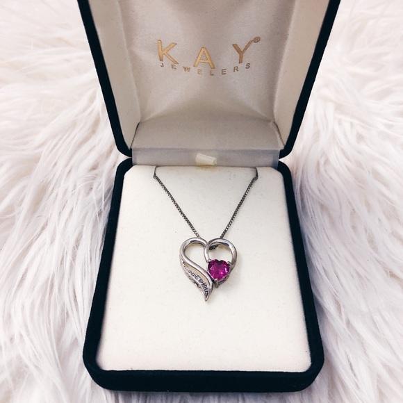 da650f97a Kay Jewelers Jewelry | Kays Jewelers Ruby Necklace With Diamond ...